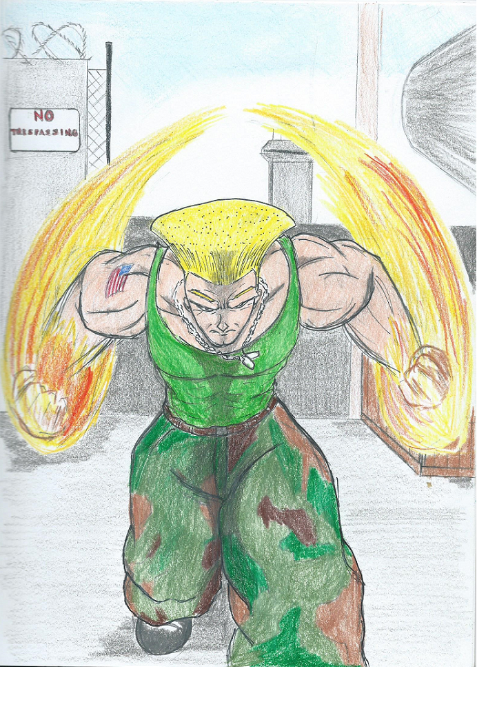 Street Fighter Artwork in coloered pencil