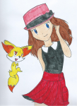 Pokémon XY's Serena and her Fenniken