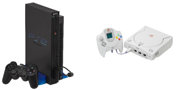 PS2 and Dreamcast
